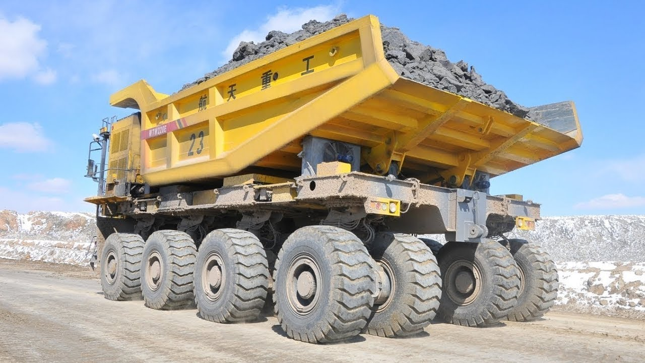 Fast Extreme Mini Bulldozer At Work & World's Largest Mining Dump Truck