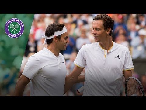 Roger Federer v Tomas Berdych highlights - Wimbledon 2017 semi-final