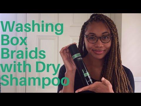 My First Time Using Dry Shampoo To Wash Box Braids!