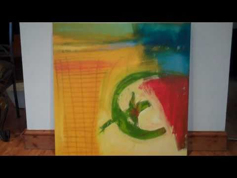 Red blue yellow green abstract painting – The revolution by Hardeep