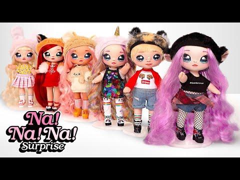 Распаковка модных куколок Na Na Na с шапками и конфетти!