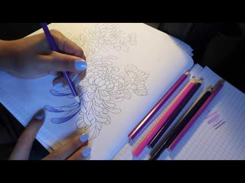 ASMR Color with Tiffany: Colored pencils and paper sounds