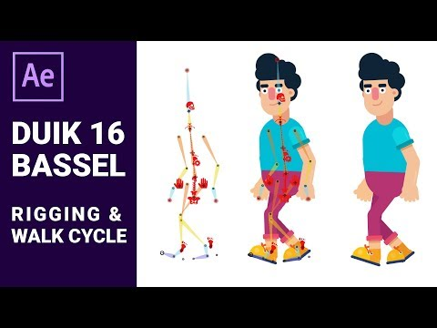 Character Rigging & Animation in After Effects Tutorial with DUIK 16 BASSEL PLUGIN