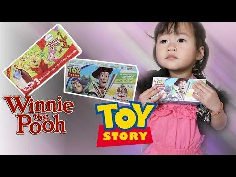 เปิดไข่ช็อคโกแลต หมีพูห์ ทอยสตอรี่, 6 Kinder Surprise Eggs Pooh, Toy Story