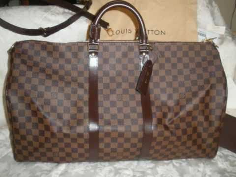 322d3b3a9c96 LOUIS VUITTON KEEPALL 55 DAMIER EBENE - YouTube