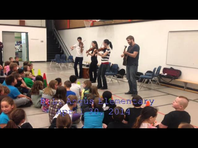 The Fitzgerald Family Band visits RL Angus Elementary