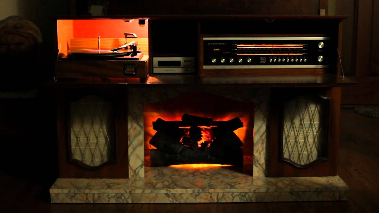 For Sale Koronette Fireplace Turntable 8 Track And Stereo