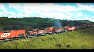 TREM ALL cruzando com 9 Locomotivas nos Campos do Paraná