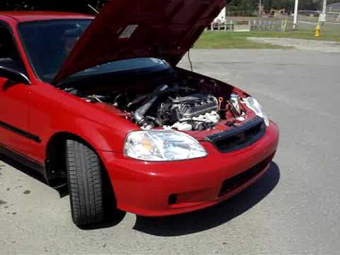 2000 Honda Civic CX AEM Cold Air Intake - YouTube