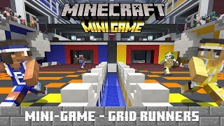 4 Minecrafters Play the *New* Minecraft Mini Game 'Grid Runners'