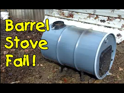 Barrel Wood Stove Build 2 - Barrel Wood Stove Build 2 - YouTube