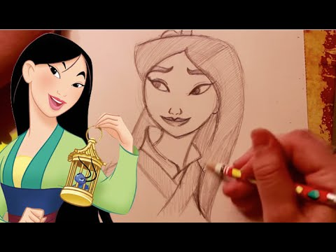 How To Draw Mulan From Disney S Mulan Dramaticparrot Youtube