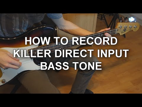 How To Record a Killer Direct Input Bass...