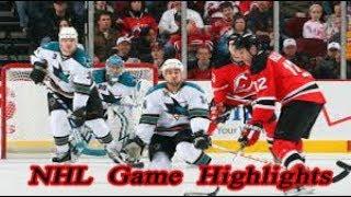 San Jose Sharks vs New Jersey Devils - 11.12. NHL Highlights Season 2018-2019