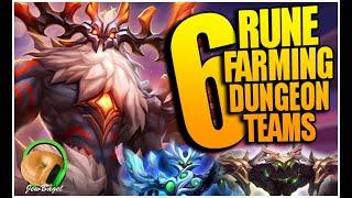 6 Dimensional Hole RUNE FARMING Teams (Summoners War)