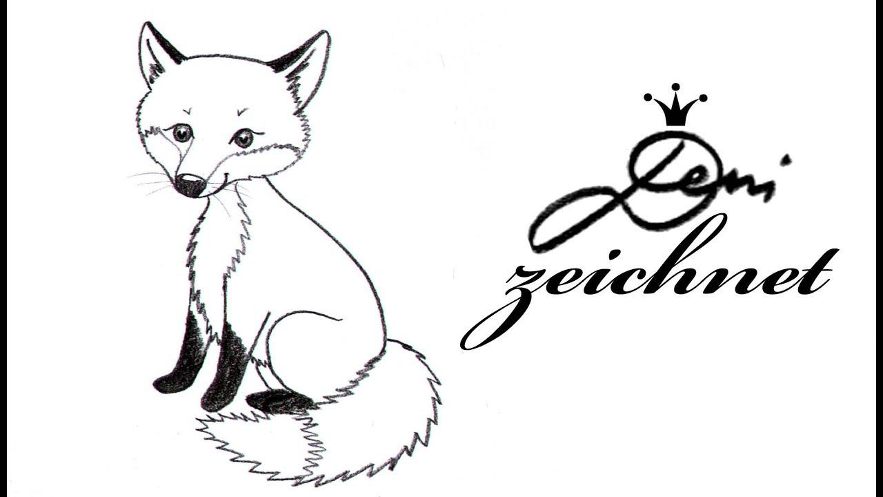 Fuchs Zeichnen Lernen Fur Kinder Einfach How To Draw A Fox For