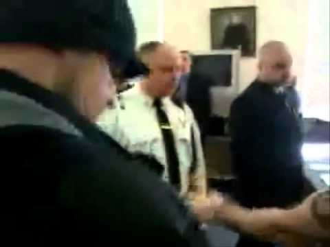 Judge flees courtroom   caught on tape  Greenfield, Massachusetts