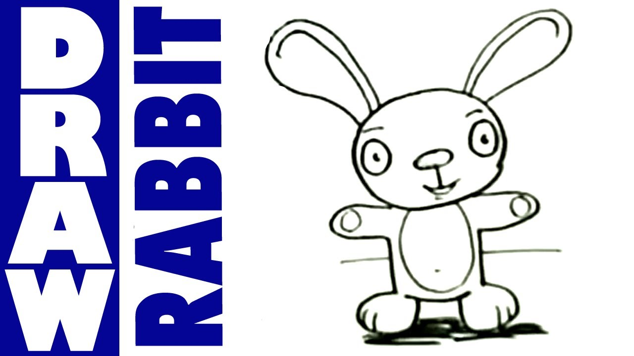 How to draw a Cartoon Rabbit - YouTube