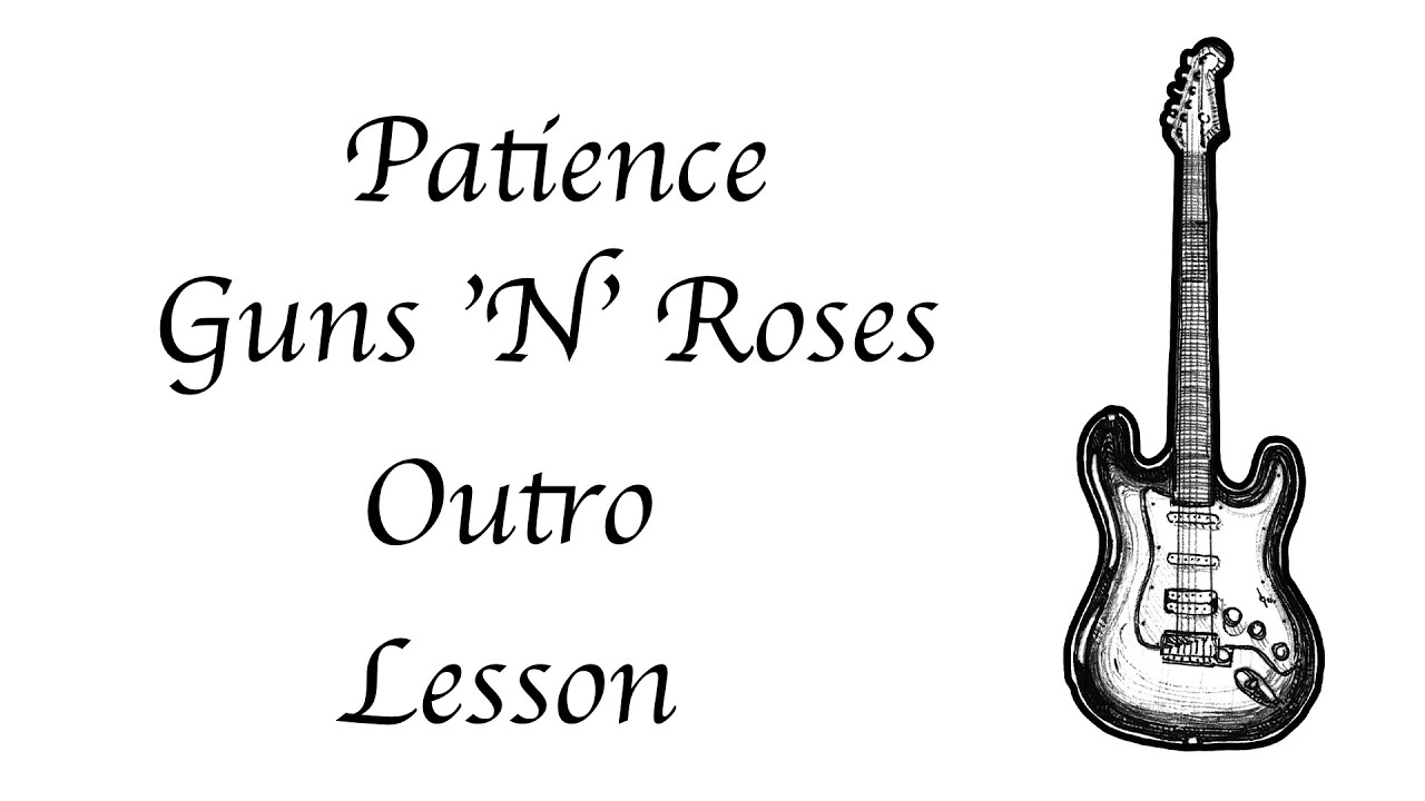 Guns N Roses Patience Outro Lesson Easy Strumming Youtube