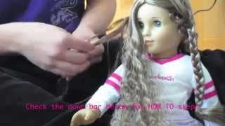 How to permanently Straighten Your Dolls Hair Safely! ( I did marie-grace)