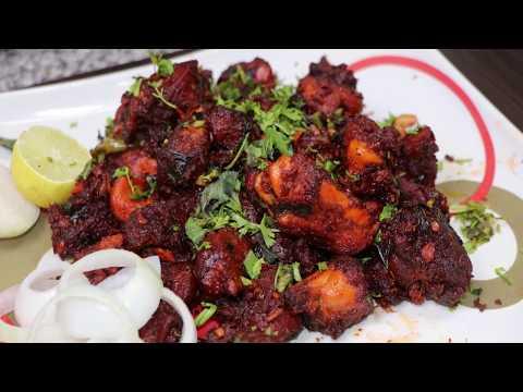 Chicken 65 Restaurant Style - How to Make Chicken 65 in Telugu Vantalu