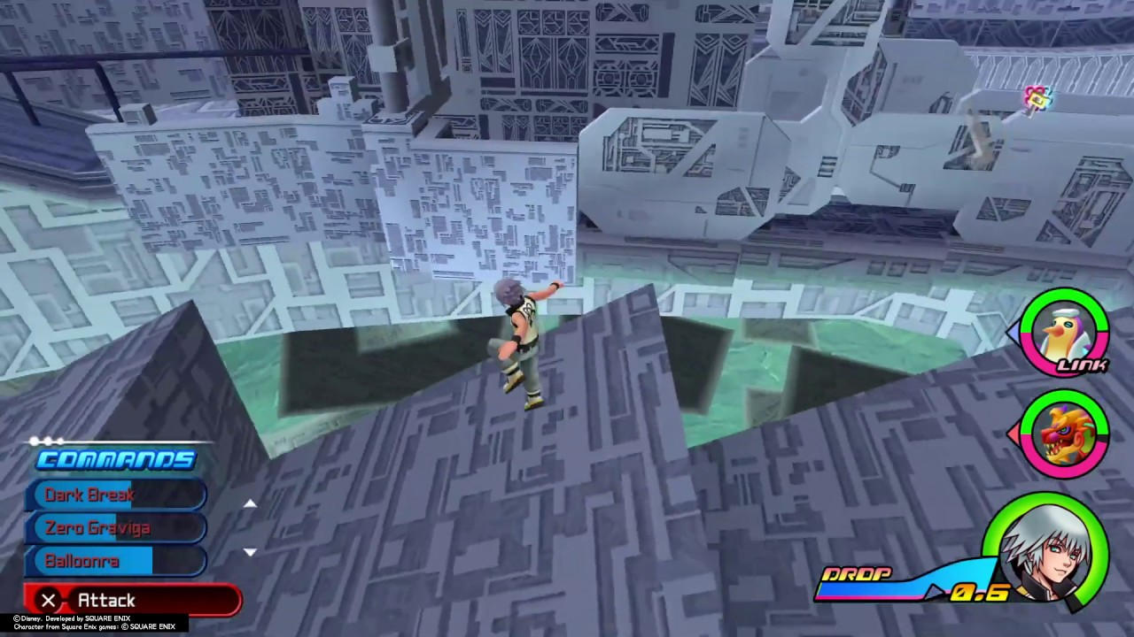 KINGDOM HEARTS Dream Drop Distance HD out of bounds glitch