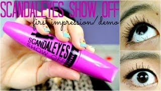 {MMM}: NEW Rimmel London ScandalEYES SHOW OFF Mascara FI/Demo (+compared to Benefit They
