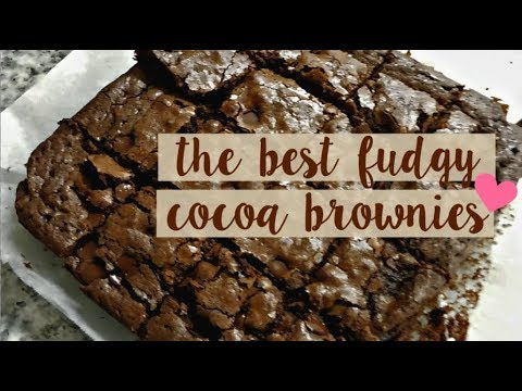 THE BEST FUDGY COCOA BROWNIES | Recipe