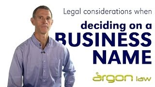 Business Names - Tips from a Lawyer when naming your business :: Argon Law Sunshine Coast(http://www.argonlaw.com.au ***BE SURE TO SUBSCRIBE FOR WEEKLY LEGAL TIPS AND KNOWLEDGE*** In this weeks 'The Counsel You Keep' - John ..., 2014-05-18T23:04:25.000Z)