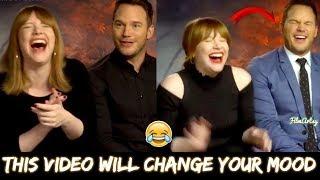 Bryce Dallas Howard is a Laughing Meme Generator | Chris Pratt Can't Stop His Laughter