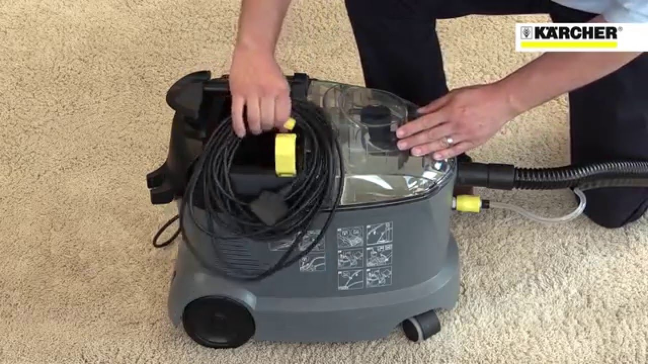 karcher puzzi 8 1c carpet upholstery cleaner youtube. Black Bedroom Furniture Sets. Home Design Ideas