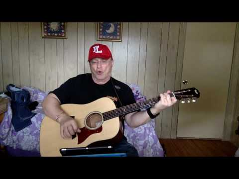 2162 -  Blueberry Hill -  Fats Domino vocal & acoustic guitar cover & chords