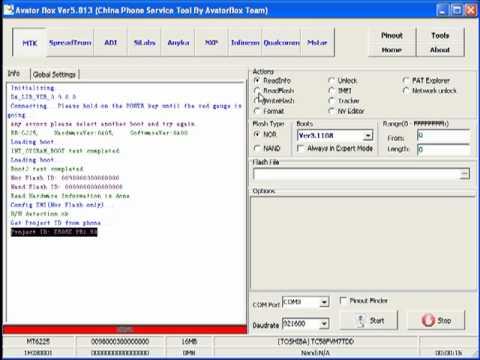 logiciel alcatel mt6225