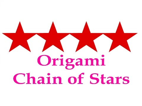How to make Origami Chain of Star ( very easy ) : DIY Crafts