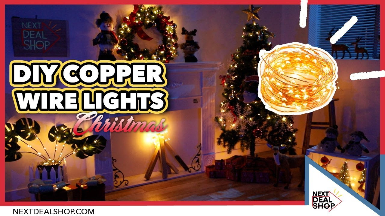 diy christmas decorations with copper wire lights next deal shop
