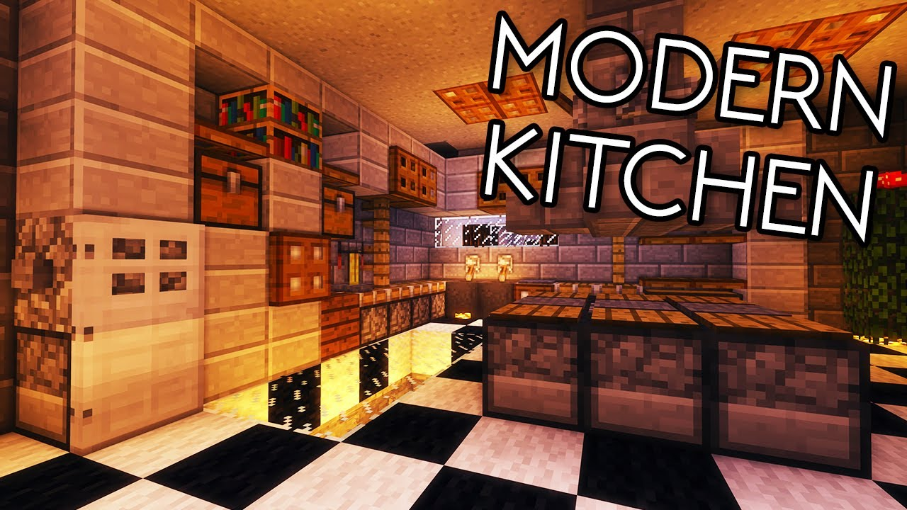 Minecraft Tutorials   Minecraft Tutorial #17   How To Build A Modern Kitchen  (HD)   YouTube