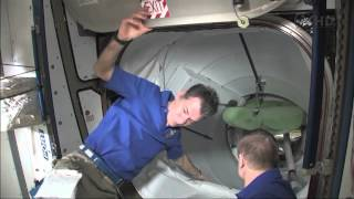 STS-134 Endevour - Hatch Opening - ISS Side Side