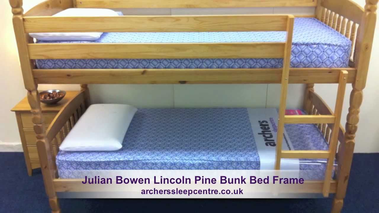 Julian Bowen Lincoln Pine Bunk Bed Frame Youtube