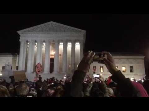 Donald Trump Immigrant Ban Protest at Supreme Court