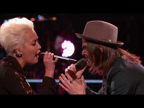 The Voice 2015 Battle   Meghan Linsey vs  Paul Pfau   Don't Let Me Down