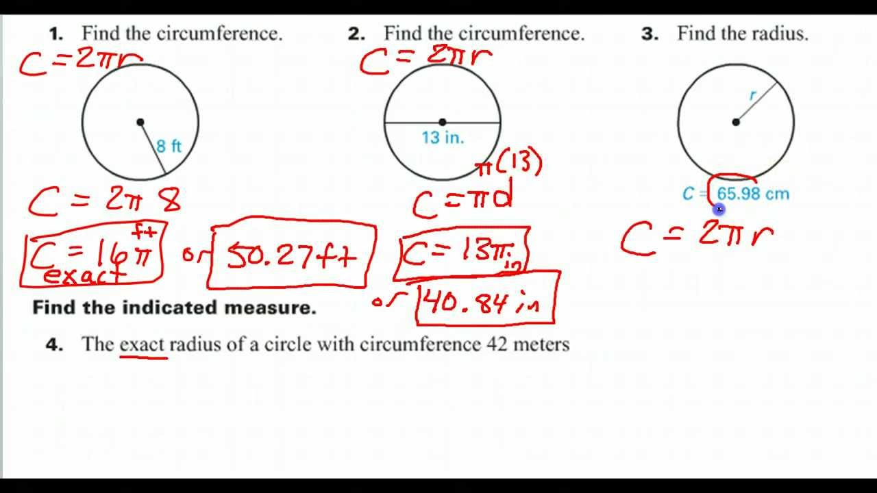 How to find the radius given the circumference youtube how to find the radius given the circumference ccuart Images