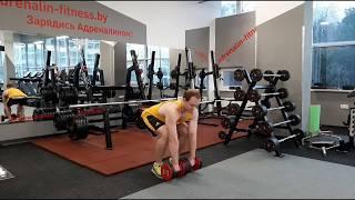 Становая тяга с гантелями упражнение для мышц спины, ягодиц и ног