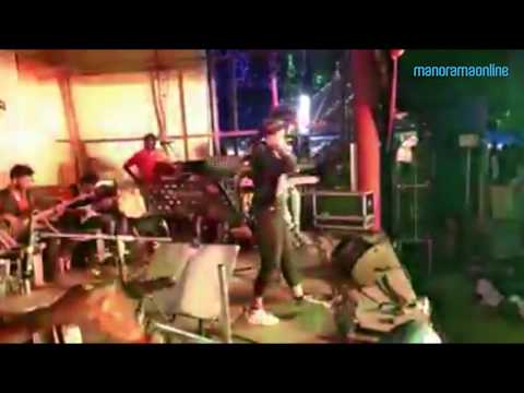 Singer collapses on stage