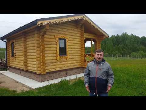 Баня из бревна, Дорофеево, Судогодский район Стандарт Строй 2017