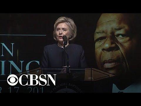 Hillary Clinton praises Elijah Cummings for fighting corruption