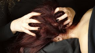 ASMR Scalp Massage & Head Scratching with Soft Whispers for Sleep ♥ Ultra Close Binaural Sounds