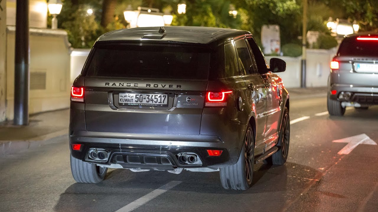 crazy loud range rover sport svr with straight pipes revs accelerations