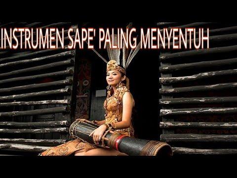 MENYENTUH BANGET !! | INSTRUMEN SAPE' TERBAIK DARI SUKU DAYAK BORNEO KALIMANTAN