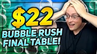 $22 BUBBLE RUSH FINAL TABLE!!! | PokerStaples Stream Highlights
