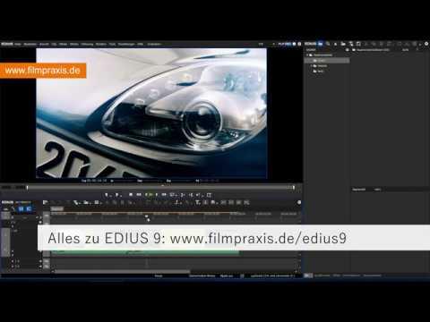 EDIUS 9 - Video-Export in H 265/HEVC (MP4) in 8 oder 10 Bit